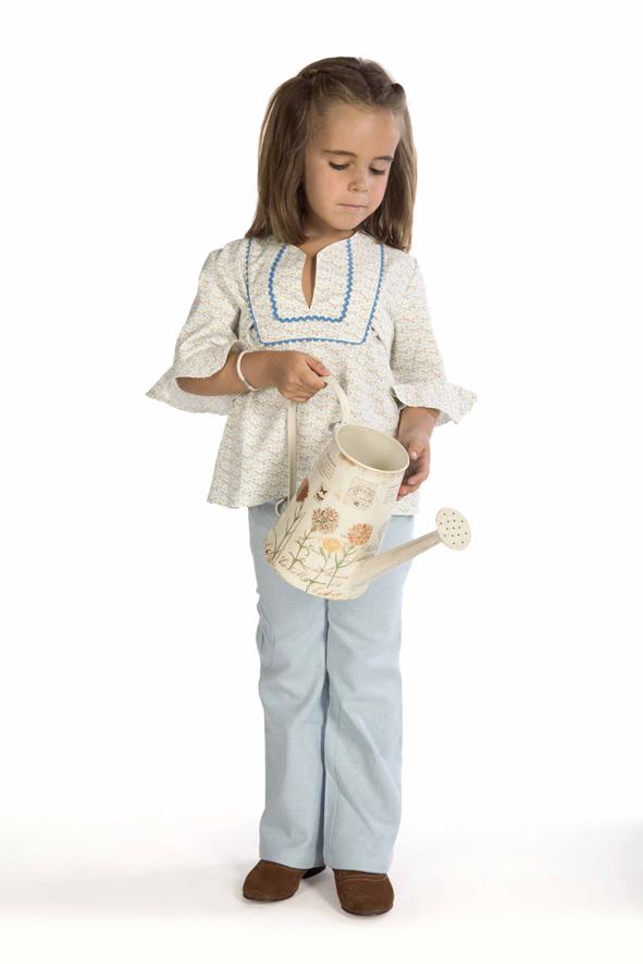 La camisa Canesú y los pantalones, básicos Athina para las niñas