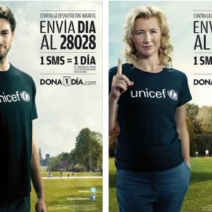 Pau Gasol y Ana Duato son algunas de las celebridades que apoyan la campaña Dona un Día. Foto unicef.es.