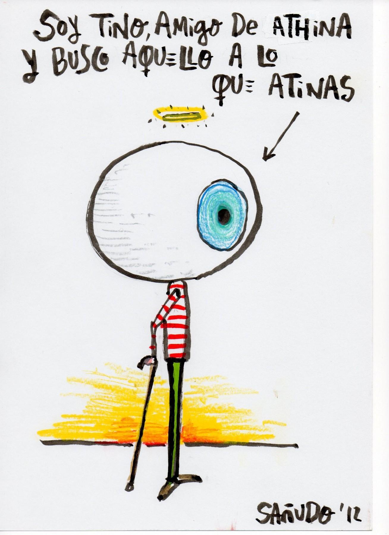 "Tino, el amigo ""buscador de magia"" de Athina."