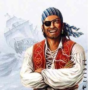 Esta imagen clásica de un pirata de cuento puede ayudarte a hacer el disfraz.